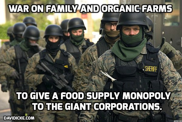 "Cops Illegally Raid Couple's Organic Farm, Assault them Both because they are ""Constitutionalists"""