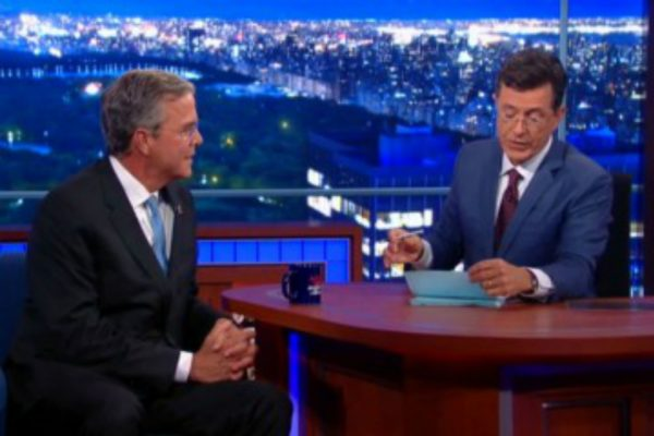 jeb bush late show