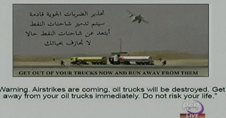 White House Gave ISIS 45 Minute Warning Before Bombing Oil Tankers