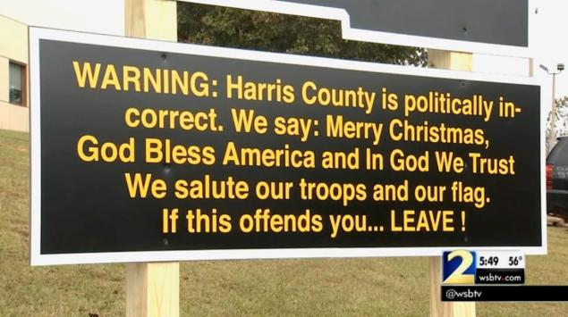 "Georgia Sheriff Posts a Patriotic Sign – Media Says its ""Politically Incorrect"""