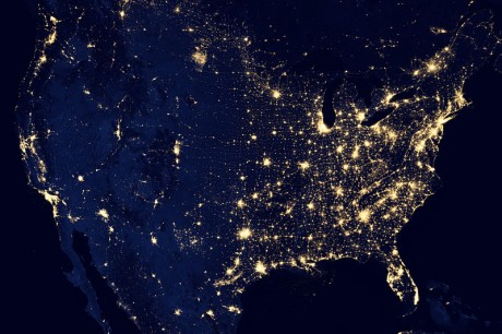 The-United-States-Of-America-At-Night-460x306