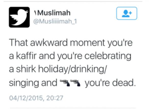 muslim san bernadino tweet
