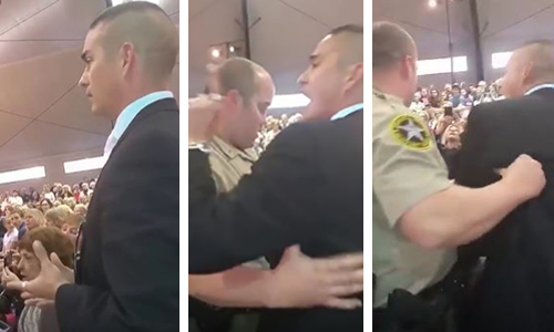 Marine Booed and Removed from Clinton Rally for bringing up Clinton's Benghazi Lies