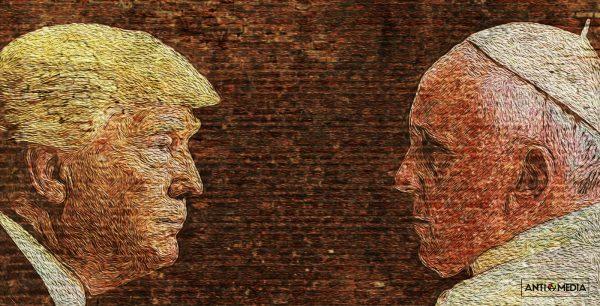 Trump-Pope-AntiMedia-Wall