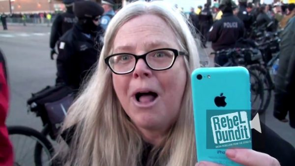 """Irate Leftist Insists White Film Maker Needs Permission to Film """"Women of Color"""" at Public Protest"""