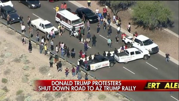 trump protesters arizona