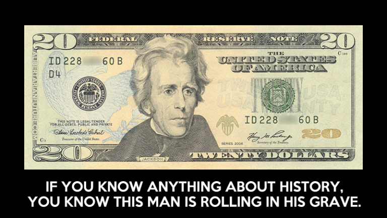 """Andrew Jackson, Who Fought Central Bank, Removed from $20 As """"Public Concern for Liberty"""" Erased"""
