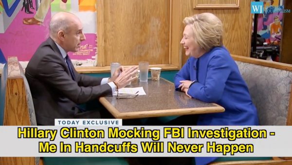 Hillary Clinton Mocks FBI Investigation - You'll Never See Me In Handcuffs