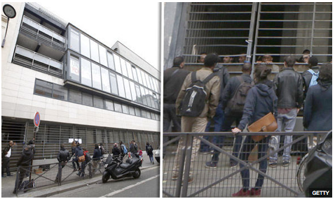 """SAVAGE OCCUPATION"": Muslim migrants demanding ""respect"" smash way into Paris school and refuse to leave"