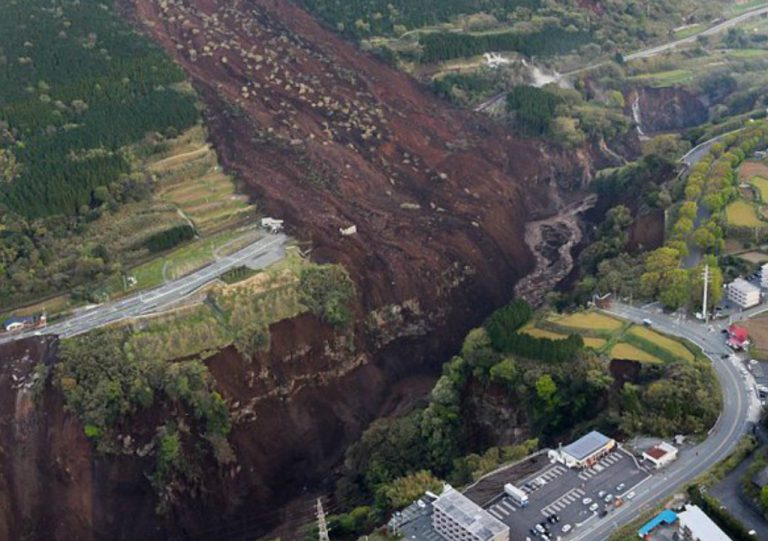 Apocalyptic Drone Footage Shows Giant Cracks In The Earth On Japan's Southern Island