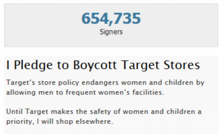 650,000 People Sign Pledge to Boycott Target Stores After Company Announces Transgender Bathroom Policy
