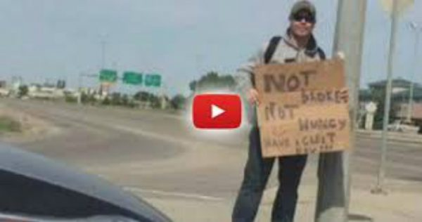 Man Ticketed for No Seatbelt After Unbuckling to Give Money to Cop Dressed as Homeless Man 2