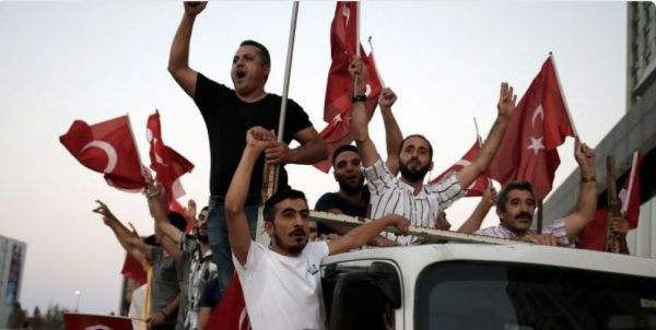 """Thousands storm towards Incirlik yelling """"death to America"""""""