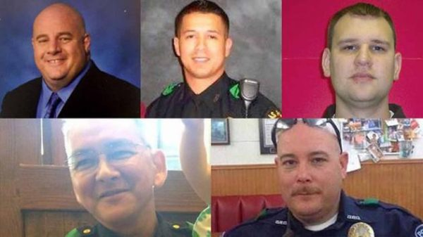 Dallas police officers murdered by racist sniper