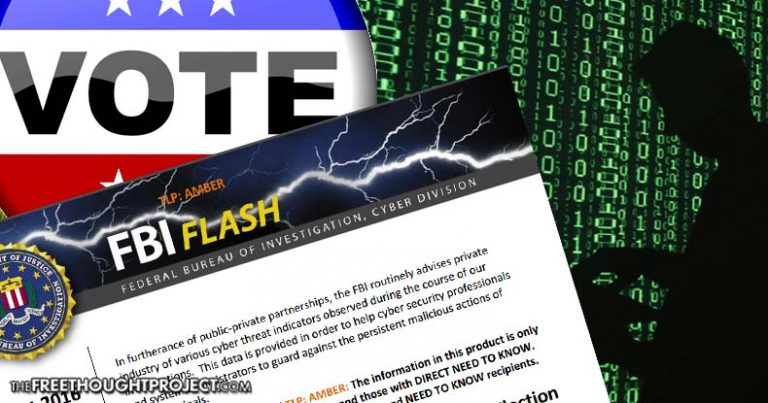 Leaked FBI Alert Admits Hackers Penetrated US Election Systems