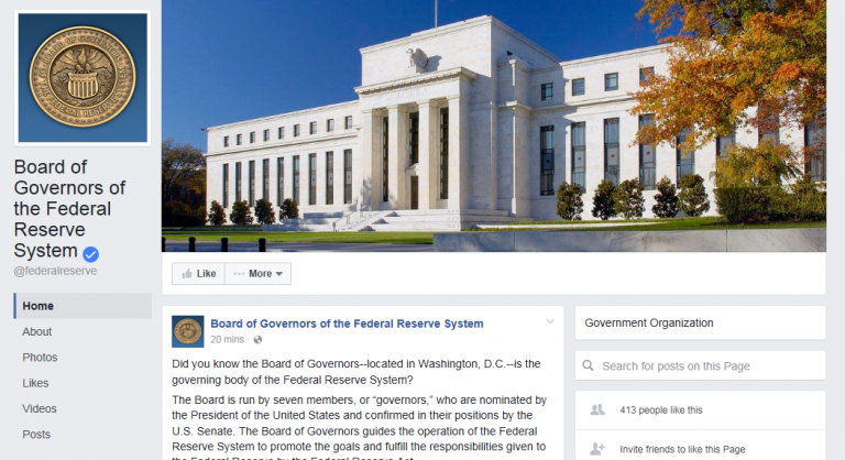 The Federal Reserve Just Made a Facebook Page… And It's Getting Destroyed by Trolls