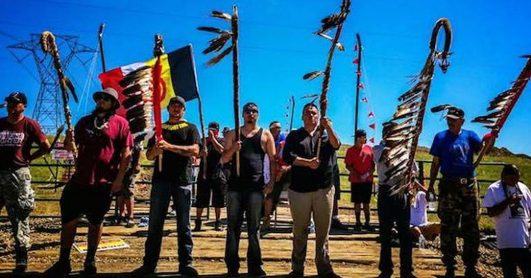 2,500 Native Americans Successfully Block Oil Pipeline Construction — State of Emergency Declared
