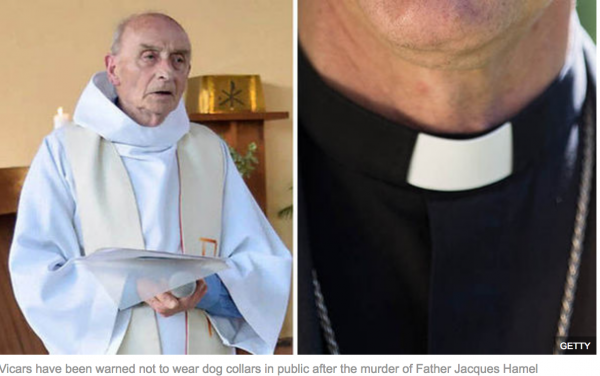Islam in the West - Priests told 'don't wear collars in public' over fears jihadis are planning attacks