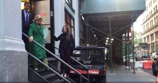 Video: Sick Hillary Wears Heavy Winter Coat on Warm Afternoon