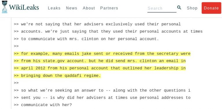 Clinton's most emailed aid in the US State Department, Jake Sullivan, used personal email to talk with Clinton about bringing down Libya