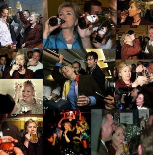 Hillary Clinton is an alcoholic
