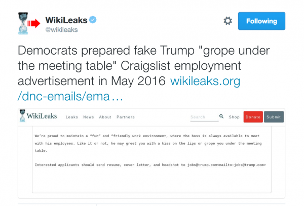 wikileaks-democrats-fake-trump-employment-ad