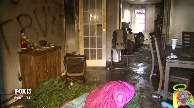 Navy Vet's Home Vandalized, Torched by Anti-Trump Extremists
