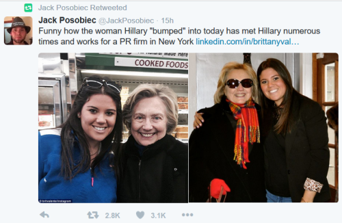 More Fakery: Another woman claims to chance upon Hillary, shopping for Thanksgiving groceries