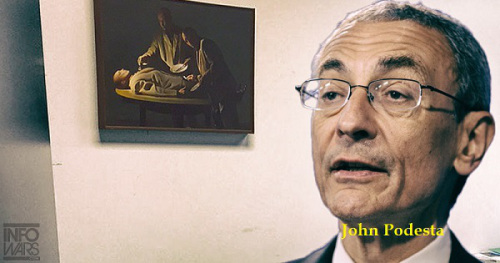 Hillary's campaign chairman John Podesta has cannibalism painting in his office