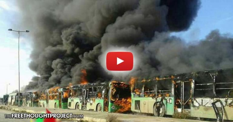 U.S.-Backed 'Moderate Rebels' Caught on Video Firebombing Humanitarian Evacuation Buses in Aleppo