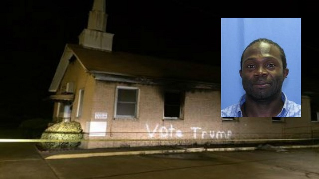HATE HOAX: Black Man Arrested In 'Vote Trump' Mississippi Black Church Burning