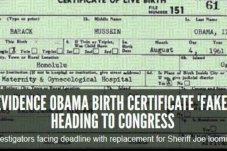 Fraudulent Obama Birth Certificate Evidence Heads to Congress… Again