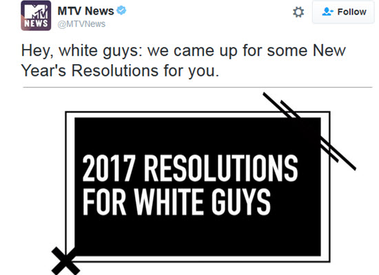 """MTV Releases Racist, Sexist """"2017 Resolutions For White Guys"""" Video; Hilarious Black Comedian Calls Them On It"""