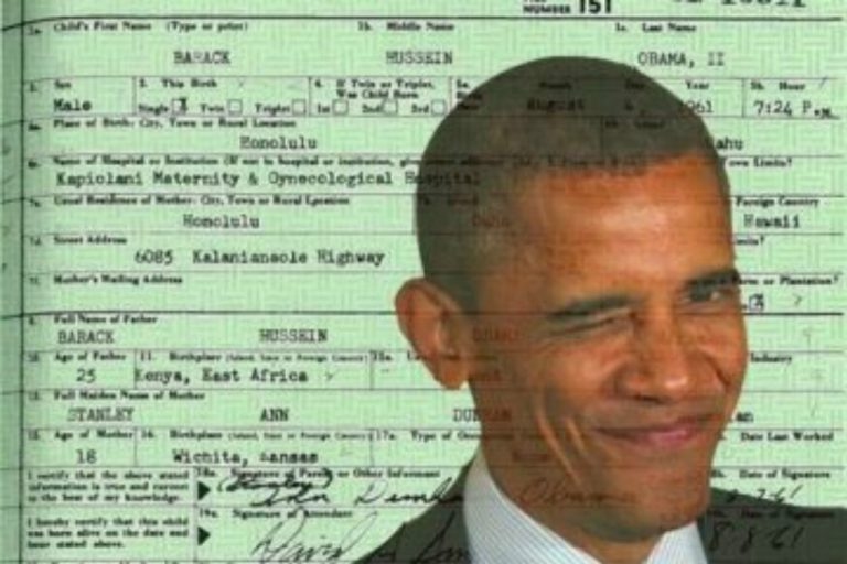 Obama Birth Certificate is a Fake & Here's the Big List of Those Who Agree