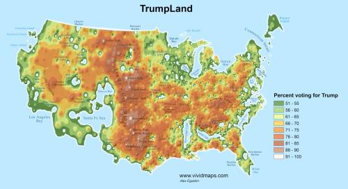 Trump Land vs. Hillary Islands