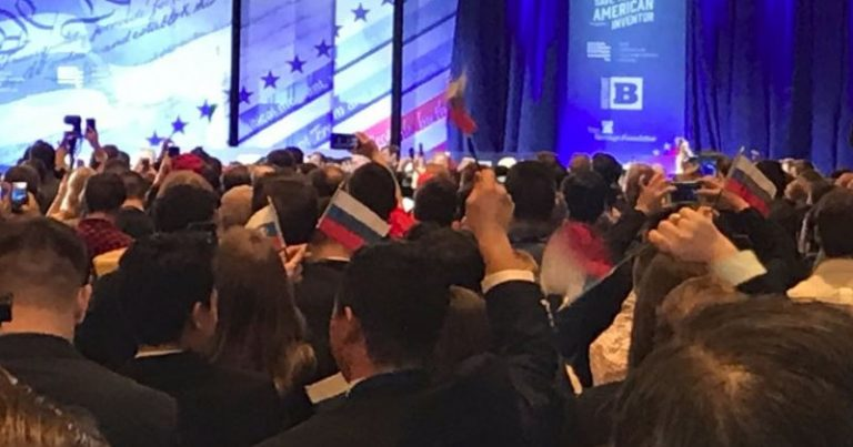 FAKE NEWS: Media Says Trump Supporters Waved Russian Flags at CPAC, Omit Fact it was a Leftist Stunt