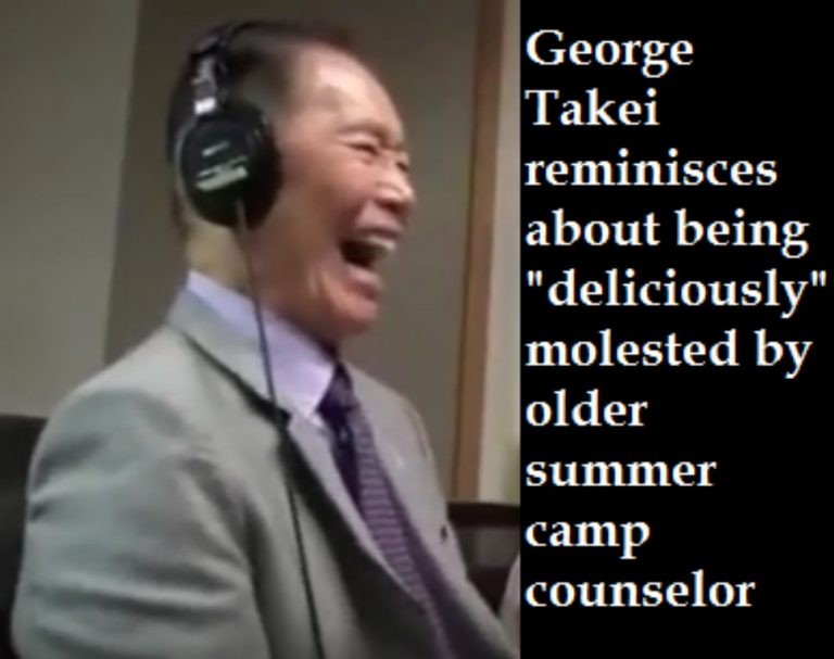 'Star Trek' actor George Takei fondly reminisces about being molested by a camp counselor