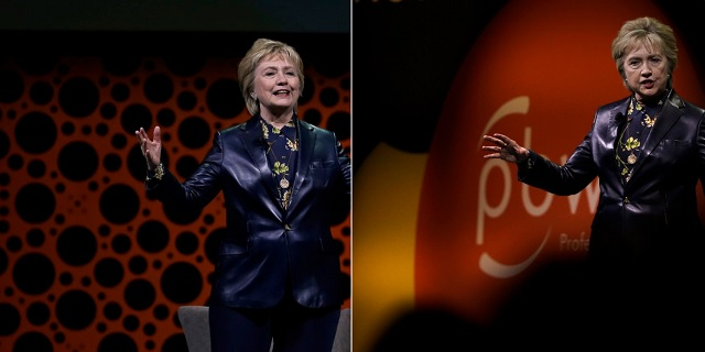 Hillary Clinton Dresses As The Joker, Attacks Men At Women's Conference