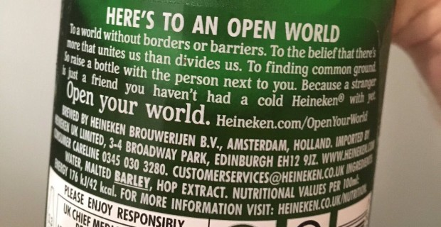 """Heineken Campaign Calls For """"World Without Borders"""""""