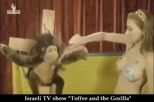 Israeli TV mocks Jesus Christ as a monkey nailed to a cross