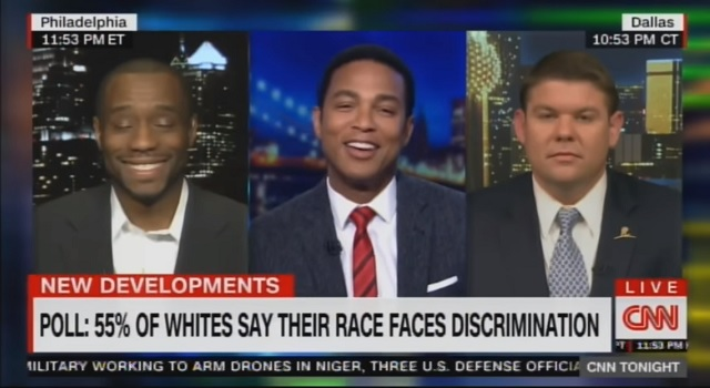 CNN's Lemon Can't Contain His Laughter After Hearing 55% Of Whites Say Whites Face Discrimination