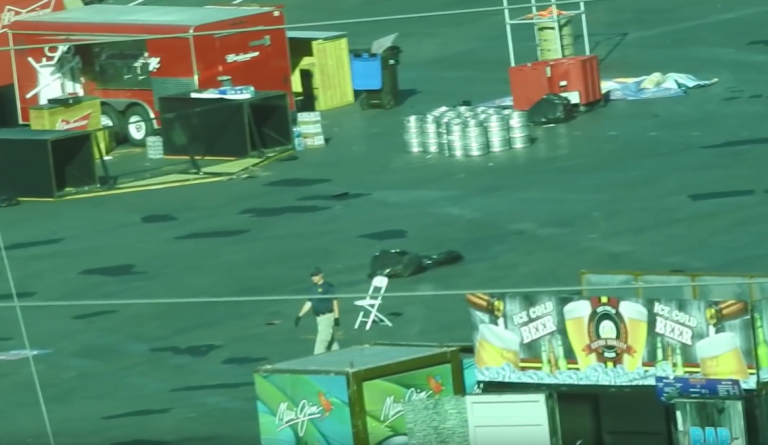 Bullet holes? Undercover high-def video shows FBI clean up inside the Route 91 venue following the Oct. 1 massacre