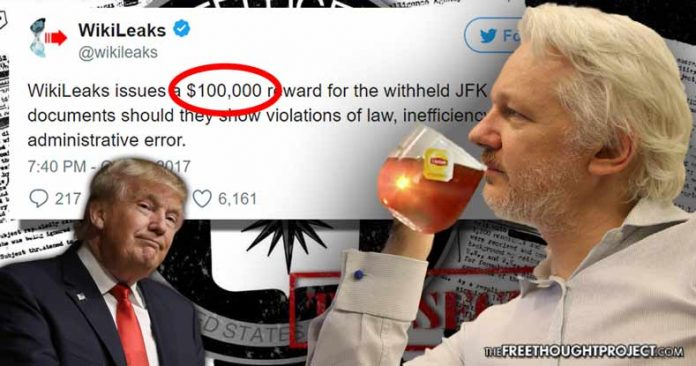 As Trump Caves to CIA & Blocks Full Release of JFK Files, WikiLeaks Offers $100K Reward for Them