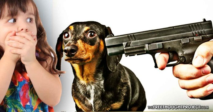 Cop Fired for Shooting 9yo Girl in the Head As He Tried to Kill Her Dog in a Room Full of Kids
