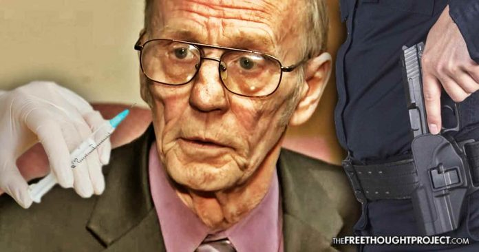 Govt Kidnaps Innocent Elderly Man, Forcibly Injects Him with Drugs—Gives Him $50 Gift Card for Steak