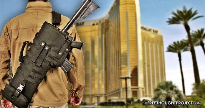 'I've Never Seen That': FBI Admits MGM Keeping Paddock Weapons Footage Secret