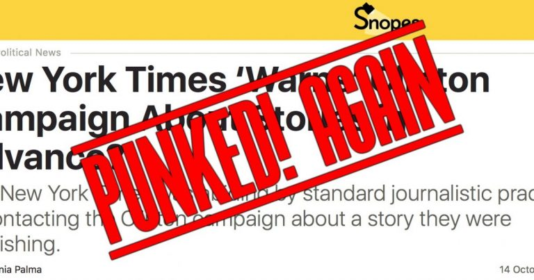 Snopes Gets Punked With New Revelations In Wikileaks Emails About Hillary & NYT Collusion