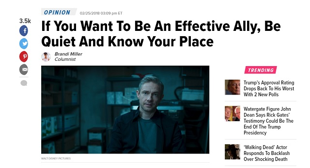 HuffPo to White Allies: 'Be Quiet and Know Your Place'