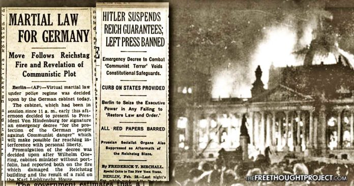 """85 Years Ago, Hitler Carried Out a """"False Flag"""" Showing How Gov't Can Control With Lies and Fear"""