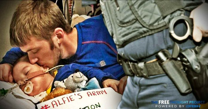 Police Threaten Arrest If Citizens Speak Out Against the State-Sanctioned Death of Baby Alfie Evans